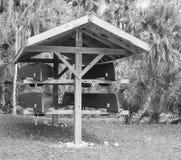 Canoas listas para ser alquilado Foto de archivo libre de regalías
