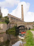 Canoas na celebração de 200 anos do canal de Leeds Liverpool em Burnley Lancashire Fotografia de Stock Royalty Free