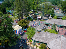 Canobie Lake Park, New Hampshire. Since 1902, Canobie Lake Park in New Hampshire has been providing family amusement. In this aerial view one can see the 1930s royalty free stock photo