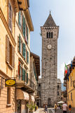Canobio, Italy, August 01, 2012: San Vittore Belltower. Stock Photography