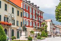 Canobio, Italy, August 01, 2012: town houses Royalty Free Stock Photography