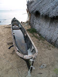 Canoe. On cristal clear tropical water stock photo