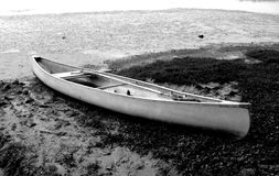 Canoe. In black and White Stock Photography