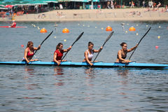 Canoe. BELGRADE - JUNE 18: European Senior Canoe Sprint Championship June 18, 2011 in Belgrade, Serbia Stock Photography