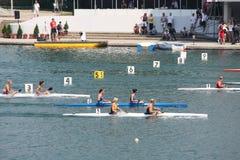 Canoe. BELGRADE - JUNE 18: European Senior Canoe Sprint Championship June 18, 2011 in Belgrade, Serbia Stock Photos
