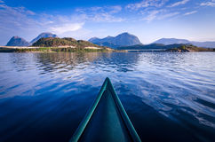Canoe adventure in Norway Royalty Free Stock Images
