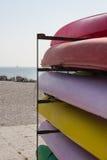 Canoe. Aground on the beach Stock Image