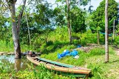 Canoe in the Amazon Royalty Free Stock Photography