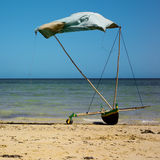 Canoe on the beach Stock Image