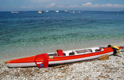 Canoe on the beach Royalty Free Stock Image