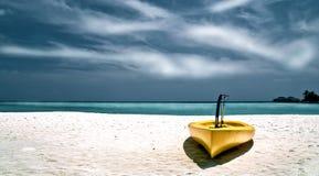 Canoe at the beach Royalty Free Stock Image