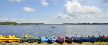 Canoe on beach Royalty Free Stock Photo