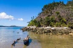 Canoe on the beach Royalty Free Stock Photo