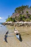 Canoe on the beach Royalty Free Stock Photography