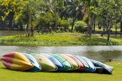 Colorful Canoe boat Royalty Free Stock Image