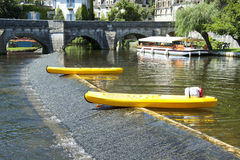 Canoe in Brantome Royalty Free Stock Image