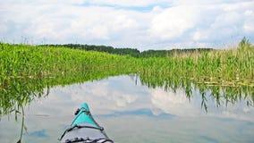 Canoe on canal Royalty Free Stock Photo