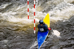 Canoe competition Stock Image