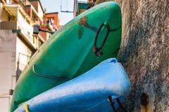 Canoe della vetroresina fotografia stock