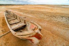 Canoe in a Desert Stock Photo