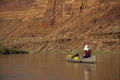 Canoe on a desert river Stock Photography
