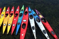 Canoe di colore Fotografie Stock Libere da Diritti