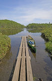 Canoe Dock in the Wilds Stock Images