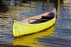 Canoe. Docked in a harbor Stock Photo