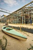 Canoe drydock - Kayak Royalty Free Stock Images