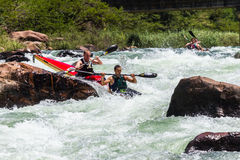 Canoe Dusi Race River Rapids Action Stock Photos