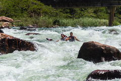 Canoe Dusi Race River Rapids Action Stock Photography