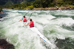 Canoe Dusi Race River Rapids Action Stock Images