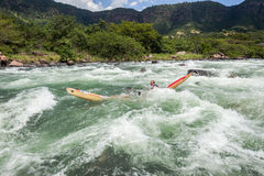Canoe Dusi Race River Rapids Action Stock Image