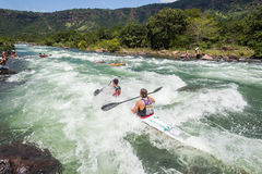 Canoe Dusi Race River Rapids Action Stock Photo