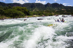Canoe Dusi Race River Rapids Action Royalty Free Stock Photos