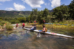 Canoe Dusi Race River Rapids Action Royalty Free Stock Photo