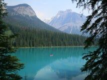 Canoe on Emerald Lake Stock Photography