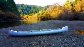Canoe -Fall Foliage stock photography
