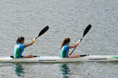 Canoe female Marathon Royalty Free Stock Photos