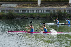 Canoe female Marathon Stock Photos