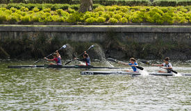 Canoe female Marathon Stock Images