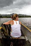 Canoe girl Stock Photo