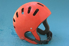 Canoe helmet Stock Photo
