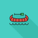 Canoe icon Stock Photo