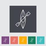 Canoe icon Stock Images