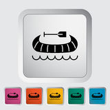 Canoe icon Royalty Free Stock Photo
