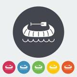 Canoe icon Stock Photography