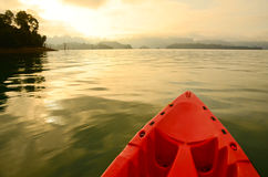 Canoe In The Damn Stock Images
