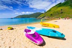 Canoe Kayak on the beach, Phuket Thailand Stock Photography