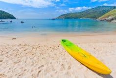 Canoe Kayak on the beach, Phuket Thailand Stock Photos